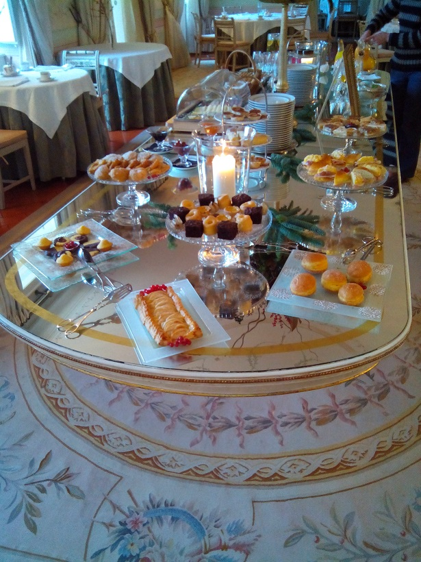 Tivoli Palace's high tea included a full buffet, scones and cream, and a wide variety of local tidbits.