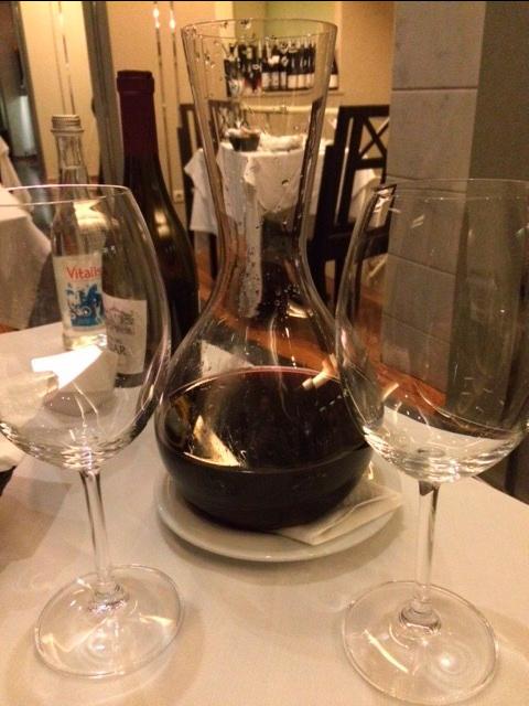 Delicious wine was flowing at Via Graca