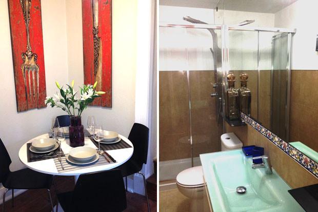 Salle à manger et salle de bain