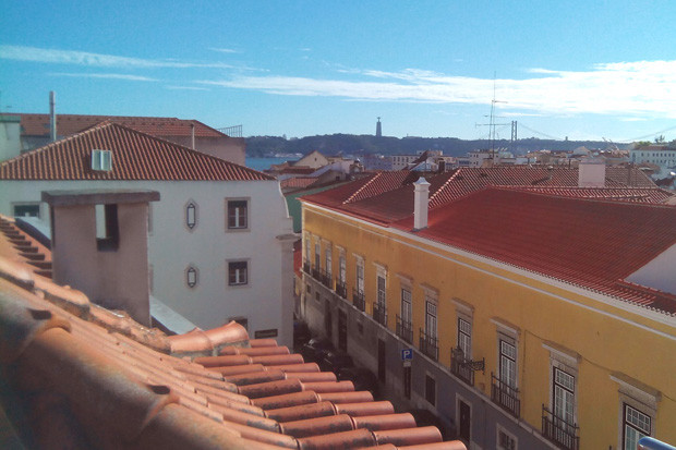 View over the Lisbon rooftops from the terrace