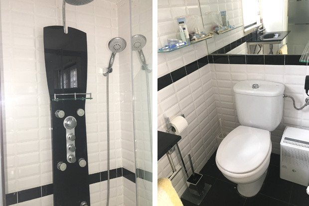 Power shower and WC